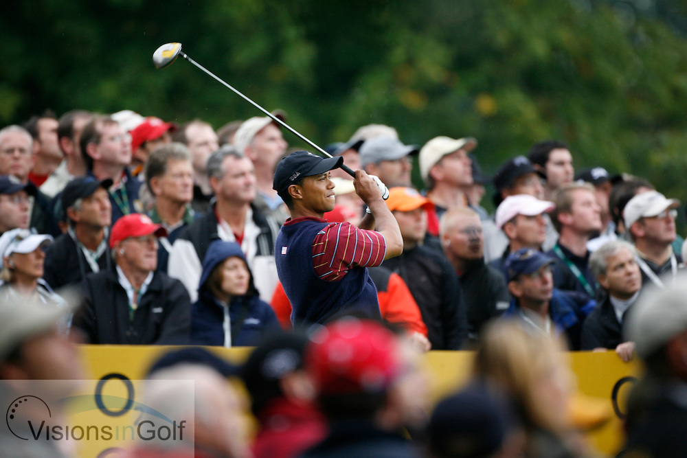 Tiger Woods <br /> on the final day at the 36th Ryder Cup Matches 2006, K Club, Ireland, 060924<br /> Picture Credit: Mark Newcombe / visionsingolf.com