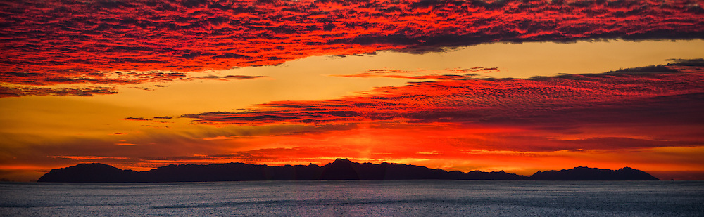 Red Sky over Catalina Island