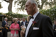 Daryl Sattui in a tuxedo at his Harvest Festival dinner at V. Sattui Winery, in St. Helena, Napa Valley, California.