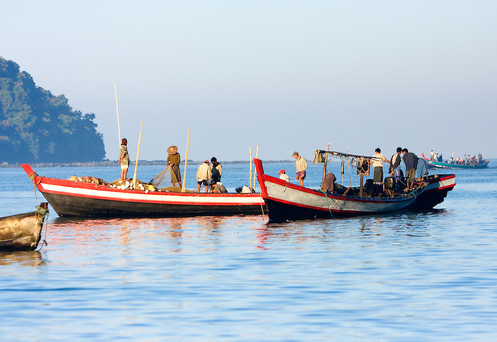 Ngapali fishing, Myanmar.