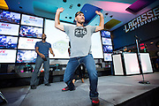 LAS VEGAS, NV - JULY 6:  Stipe Miocic plays to the crowd during the UFC Lip Sync Challenge in Lagasse's Stadium at The Palazzo Las Vegas on July 6, 2016 in Las Vegas, Nevada. (Photo by Cooper Neill/Zuffa LLC/Zuffa LLC via Getty Images) *** Local Caption *** Stipe Miocic