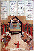 The romance and legend of Alexander the Great (356-323 BC) was recounted endlessly in Islamic art and literature from Southern Russia to the gates of India, often under the name of Iskandar. Alexander talking to wise men and scholars.  After a Persian manuscript.