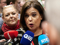 Deputy Leader of Sinn Féin Mary Lou McDonald at the vote count for the 2016 Irish General Election at RDS, Dublin, Ireland. Saturday 27th February 2016. Photographer: Doreen Kennedy