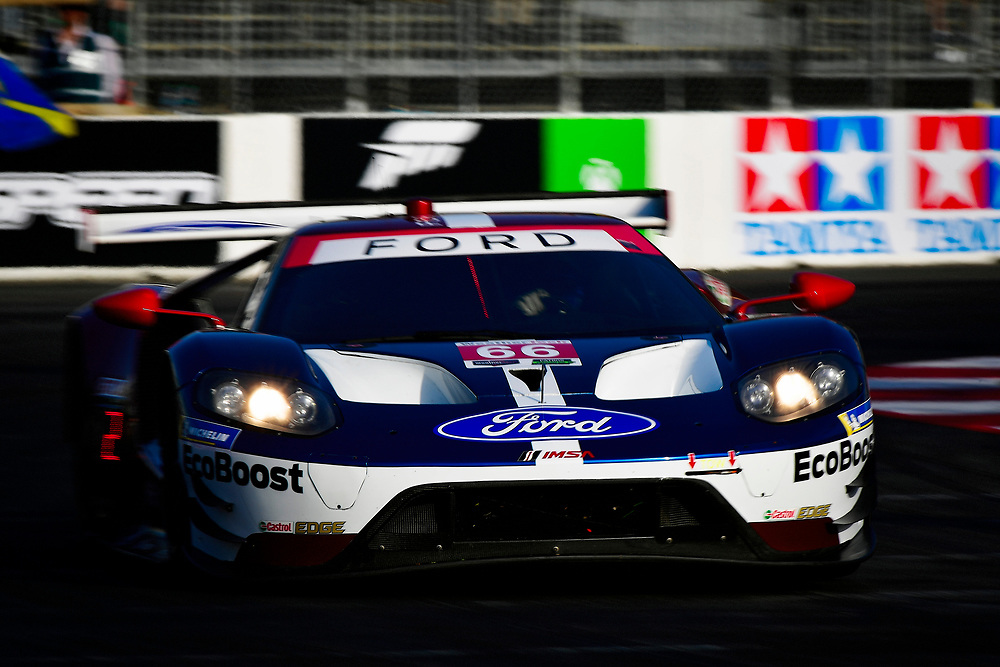 #66 Chip Ganassi Racing Ford GT, GTLM: Dirk M&uuml;ller, Joey Hand<br /> Friday 13 April 2018<br /> BUBBA burger Sports Car Grand Prix at Long Beach<br /> Verizon IndyCar Series<br /> Streets of Long Beach CA USA<br /> World Copyright: Scott R LePage<br /> LAT Images