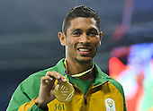 15 August- Wayde van Niekerk medal ceremony