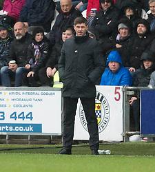 Rangers manager Steven Gerrard during the Ladbrokes Scottish Premier League match at St Mirren Park, St Mirren.