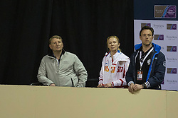 Support for Dorofeeva Tatiana, (RUS), from Laurens Van Lieren (NED)<br /> Longines FEI World Cup™ Dressage Final I<br /> Las Vegas 2015<br />  © Hippo Foto - Dirk Caremans<br /> 16/04/15