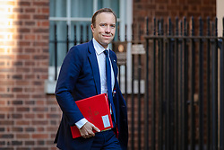 © Licensed to London News Pictures. 17/07/2018. London, UK. Secretary of State for Health and Social Care Matt Hancock arrives on Downing Street for the Cabinet meeting. Photo credit: Rob Pinney/LNP