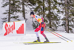 01.02.2020, Seefeld, AUT, FIS Weltcup Nordische Kombination, Langlauf, Gundersen 10 Km, im Bild Jarl Magnus Riiber (NOR) // Jarl Magnus Riiber (NOR) during the Gundersen 10 Km Cross Country Competition of FIS Nordic Combined World Cup at the Seefeld, Austria on 2020/02/01. EXPA Pictures © 2020, PhotoCredit: EXPA/ Stefan Adelsberger