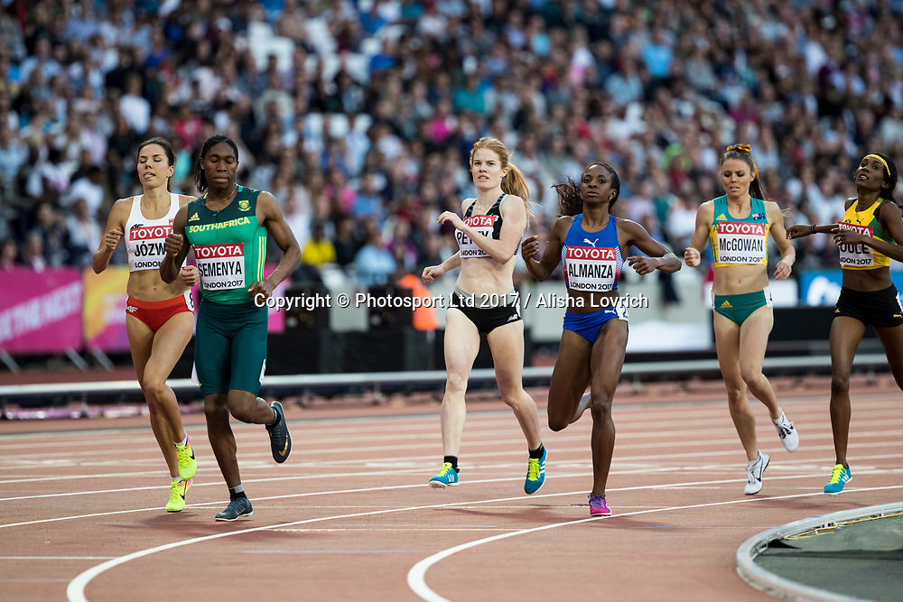 Angie Petty in action in Round 1 of the 800m on Day 7 at the<br /> IAAF World Championships, The London Stadium, Queen Elizabeth Olympic Park, London, England.<br /> 11 August 2017. Copyright photo: Alisha Lovrich / www.photosport.nz