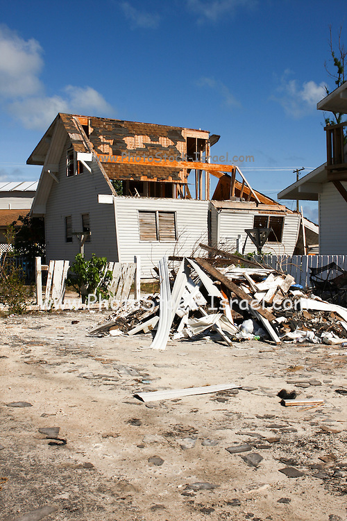 Houses damages during a hurricane