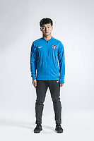 **EXCLUSIVE**Portrait of Chinese soccer player Zhou Qiming of Tianjin TEDA F.C. for the 2018 Chinese Football Association Super League, in Tianjin, China, 28 February 2018.