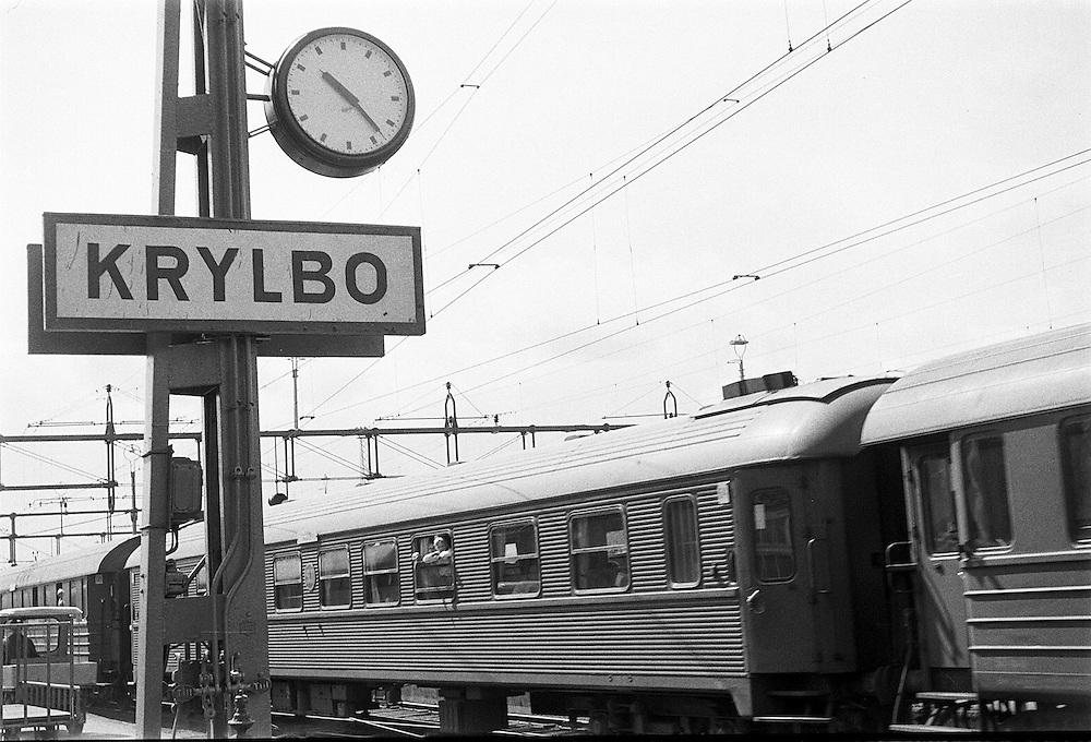 Krylbo järnvägsstation.