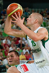 Edo Muric of Slovenia at friendly match between Slovenia and Montenegro for Adecco Cup 2011 as part of exhibition games before European Championship Lithuania on August 7, 2011, in SRC Stozice, Ljubljana, Slovenia. (Photo by Matic Klansek Velej / Sportida)