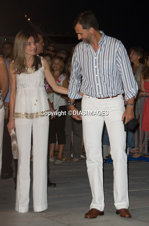 "CROWN PRINCE FELIPE AND CROWN PRINCESS LETIZIA.at the cocktail party hosted by his parents King Constantine and  Queen Anne Marie at the Poseidonion Grace Hotel, Spetses_24/08/2010.Mandatory Credit Photo: ©DIASIMAGES..**ALL FEES PAYABLE TO: ""NEWSPIX INTERNATIONAL""**..IMMEDIATE CONFIRMATION OF USAGE REQUIRED:.Newspix International, 31 Chinnery Hill, Bishop's Stortford, ENGLAND CM23 3PS.Tel:+441279 324672; Fax: +441279656877.e-mail: info@newspixinternational.co.uk"