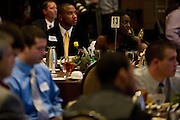 Arlington Seguin linebacker Basil Jackson listens as John Wooten speaks during the SportsDayHS' third-annual football Heroes Banquet at the Omni Hotel on Thursday, January 17, 2013 in Dallas, Tx. (Cooper Neill/The Dallas Morning News)