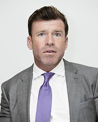 July 26, 2017 - Hollywood, California, U.S. - TAYLOR SHERIDAN director/writer of the movie 'Wind River.' Taylor Sheridan is an American actor, screenwriter, and director. He is most known for his role as David Hale on the FX television series Sons of Anarchy, and writing the screenplay for Sicario (2015), for which he received a Writers Guild of America Award nomination for Best Original Screenplay. He also wrote the screenplay for Hell or High Water (2016) which received an Academy Award nomination for Best Original Screenplay. He made his directorial debut with Wind River (2017). Horse Soldiers (2018) as Brian, Stage Kiss (2018) as George.  (Credit Image: © Armando Gallo via ZUMA Studio)