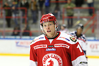 2018-11-14 | Ljungby, Sweden: Troja-Ljungby (11) Hampus Andreen during the game between Troja Ljungby and Mörrums GoIS at Ljungby Arena ( Photo by: Fredrik Sten | Swe Press Photo )<br /> <br /> Keywords: Icehockey, Ljungby, HockeyEttan, Troja Ljungby, Mörrums GoIS, Ljungby Arena div1, division, troja, ljungby, mörrum, gois,