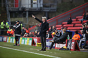 Charlton Head Coach Jose Riga giving instructions during the Sky Bet Championship match between Charlton Athletic and Cardiff City at The Valley, London, England on 13 February 2016. Photo by Matthew Redman.