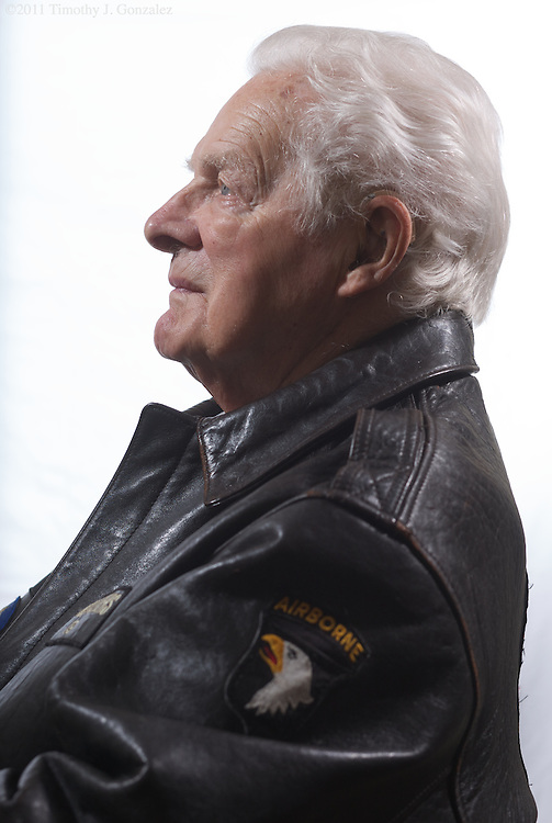 """Don Malarkey was a member E Company, 2nd Battalion, 506th Infantry Regiment, of the US Army 101st Airborne Division, the famed """"Band of Brothers"""". Photographed in his Salem, Oregon, home on Wednesday, Feb. 23, 2011."""