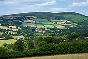 Spectacular far-reaching views over picturesque Dartmoor in Devon in Southern England, UK