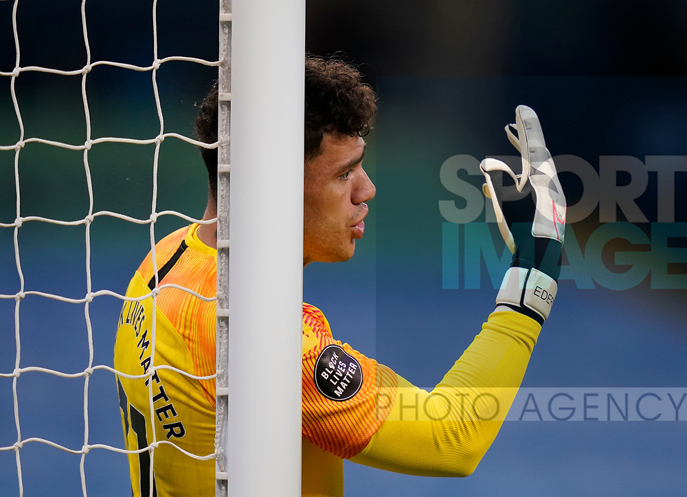 Ederson of Manchester City during the Premier League match at the Etihad Stadium, Manchester. Picture date: 22nd February 2020. Picture credit should read: Andrew Yates/Sportimage