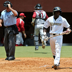 June 03, 2011; Tallahassee, FL, USA;  UCF Knights center fielder Ronnie Richardson (2) reacts after striking out to end the fourth inning against the Alabama Crimson Tide during the 2011 Tallahassee Regional at Dick Howser Stadium. Alabama defeated UCF 5-3.  Mandatory Credit: Derick E. Hingle