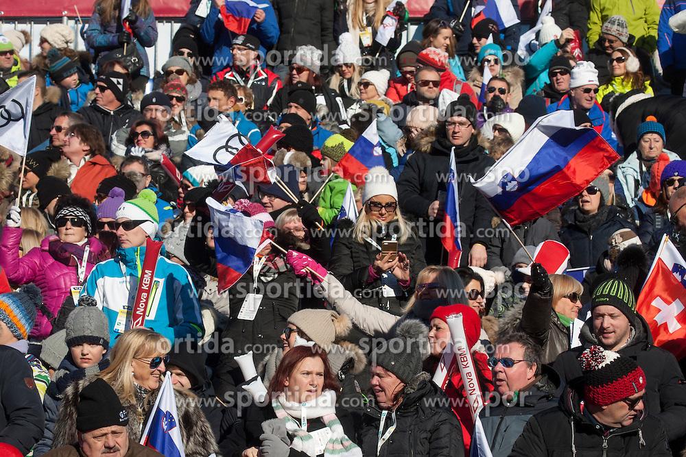 Fans during 6th Ladies' Giant slalom at 53rd Golden Fox - Maribor of Audi FIS Ski World Cup 2015/16, on January 7, 2017 in Pohorje, Maribor, Slovenia. Photo by Marko Vanovsek / Sportida