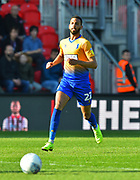 CJ Hamilton (22) of Mansfield Town during the EFL Sky Bet League 2 match between Exeter City and Mansfield Town at St James' Park, Exeter, England on 30 March 2019.