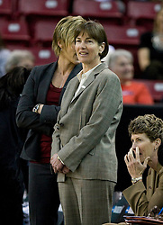 March 27, 2010; Sacramento, CA, USA; Stanford Cardinal head coach Tara VanDervee  before the game against the Georgia Bulldogs in the semifinals of the Sacramental regional in the 2010 NCAA womens basketball tournament at ARCO Arena.  Stanford defeated Georgia 73-36.