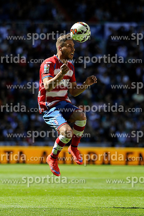 05.04.2015, Estadio Santiago Bernabeu, Madrid, ESP, Primera Division, Real Madrid vs FC Granada, 29. Runde, im Bild Granada&acute;s Juan Carlos Perez // during the Spanish Primera Division 29th round match between Real Madrid CF and Granada FC at the Estadio Santiago Bernabeu in Madrid, Spain on 2015/04/05. EXPA Pictures &copy; 2015, PhotoCredit: EXPA/ Alterphotos/ Luis Fernandez<br /> <br /> *****ATTENTION - OUT of ESP, SUI*****