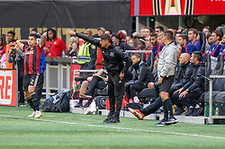 October 21, 2018 - Atlanta, GA, U.S. - ATLANTA, GA - OCTOBER 21: Chicago Fire Head Coach Veljko Paunovi? during the MLS game between the Atlanta United and the Chicago Fire on October 21, 2018 at the Mercedes-Benz Stadium in Atlanta, GA. Atlanta United FC secured a place in next year's CONCACAF Champions League with a 2-1 victory against the visiting Chicago Fire. (Photo by John Adams/Icon Sportswire) (Credit Image: © John Adams/Icon SMI via ZUMA Press)
