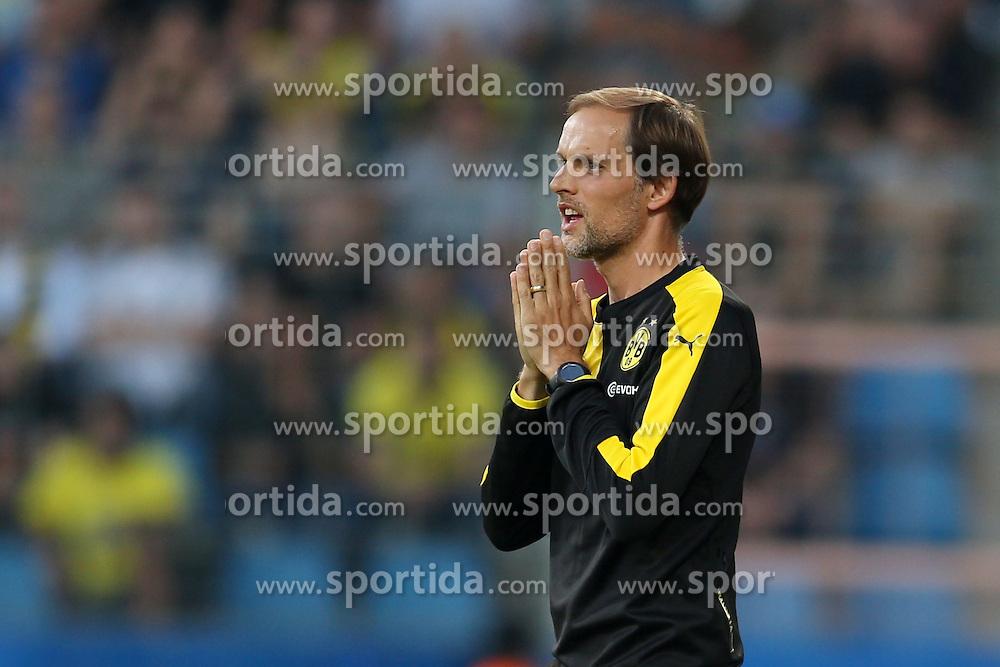 17.07.2015, RewiePower Stadion, Bochum, GER, Testspiel, VfL Bochum vs Borussia Dortmund, im Bild Trainer Thomas Tuchel (Borussia Dortmund) // during the Interntational Friendly Football Match between VfL Bochum and Borussia Dortmund at the RewiePower Stadion in Bochum, Germany on 2015/07/17. EXPA Pictures &copy; 2015, PhotoCredit: EXPA/ Eibner-Pressefoto/ Schueler<br /> <br /> *****ATTENTION - OUT of GER*****