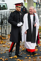 © Licensed to London News Pictures. 04/11/2015. London, UK. PRINCE HARRY arriving at a service to mark the opening of the Filed of Remembrance at Westminster Abbey, attended by Prince Philip, Duke of Edinburgh and Prince Harry.  The Field of remembrance is a memorial garden to commemorate British and Commonwealth military and civilian servicemen and women in the two World Wars and later conflicts. Photo credit: Ben Cawthra/LNP