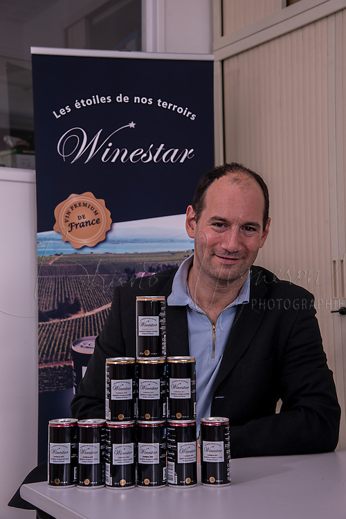Paris, FRANCE - OCTOBER 02: Wine in cans<br />