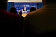 Republican presidential candidate Donald Trump speaks at a town hall meeting at Atkinson Country Club in Atkinson, N.H., Monday, Oct. 26, 2015.  (AP Photo/Cheryl Senter)