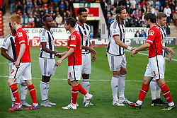 Saido Berahino and Joleon Lescott of West Brom - Mandatory byline: Rogan Thomson/JMP - 07966 386802 - 28/07/2015 - SPORT - Football - Walsall, England - Besot Stadium - Walsall v West Bromwich Albion - 2015/16 Pre Season Friendly.