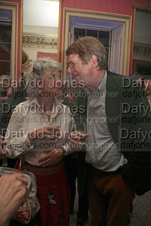 SARAH WHEELER AND JEREMY TREADLOW, Literary Review's Bad Sex In Fiction Prize.  In &amp; Out Club (The Naval &amp; Military Club), 4 St James's Square, London, SW1, 29 November 2006. <br />