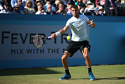Bulgaria's Grigor Dimitrov during day four of the Fever-Tree Championship at the Queen's Club, London.