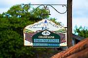 The house of Champagne Didier Martinet at Chamery in the Champagne-Ardenne region of France