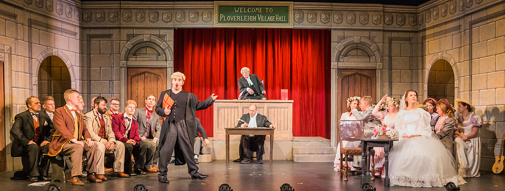 Dress rehearsal of Trial By Jury performed by the National Gilbert & Sullivan Opera Company in Buxton Opera House, Buxton, England on Saturday 04 August 2018 Photo: Jane Stokes<br /> <br /> Director: Neil Smith<br /> Musical Director: James Hendry