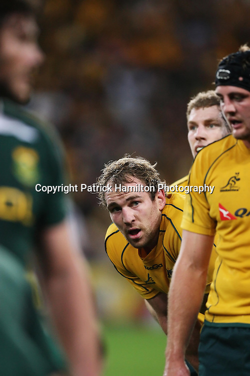 Rocky Elsom during the Tri-Nations rugby Test at Suncorp Stadium in Brisbane,  July 24, 2010. The Wallabies defeated the world champion Springboks to win the first Tri-nations rugby Test 30-13. Photo: Patrick Hamilton/Photosport
