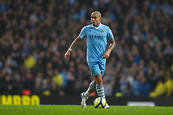 MANCHESTER, ENGLAND - Sunday, January 8, 2012: Manchester City's Nigel de Jong in action against Manchester United during the FA Cup 3rd Round match at the City of Manchester Stadium. (Pic by Vegard Grott/Propaganda)