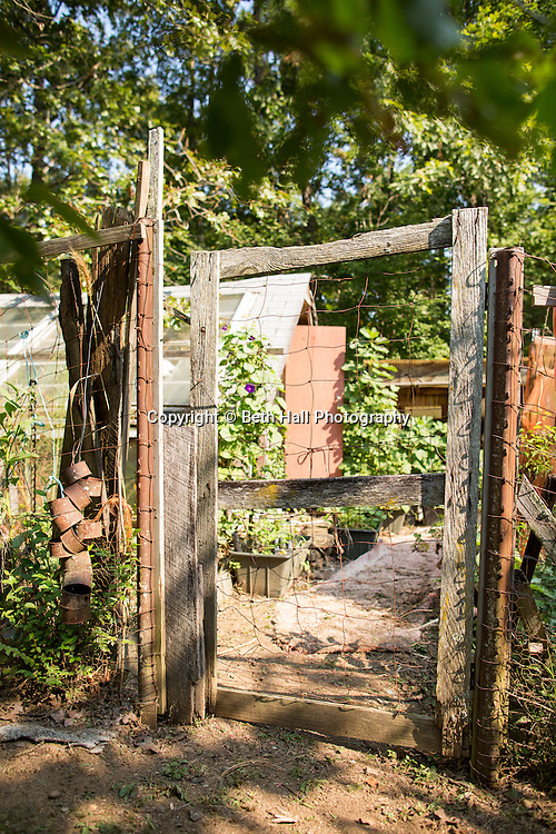 """Lallah Lee Ostergren, """"An Original Earth Mother,"""" and her farm in Dennard, Arkansas.<br /> <br /> Photo by Beth Hall"""