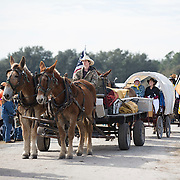 Along with the 400 plus riders and volunteers on the trip about 20 wagons braved the six day and 60 mile Great Florida Cattle Drive '16.<br />