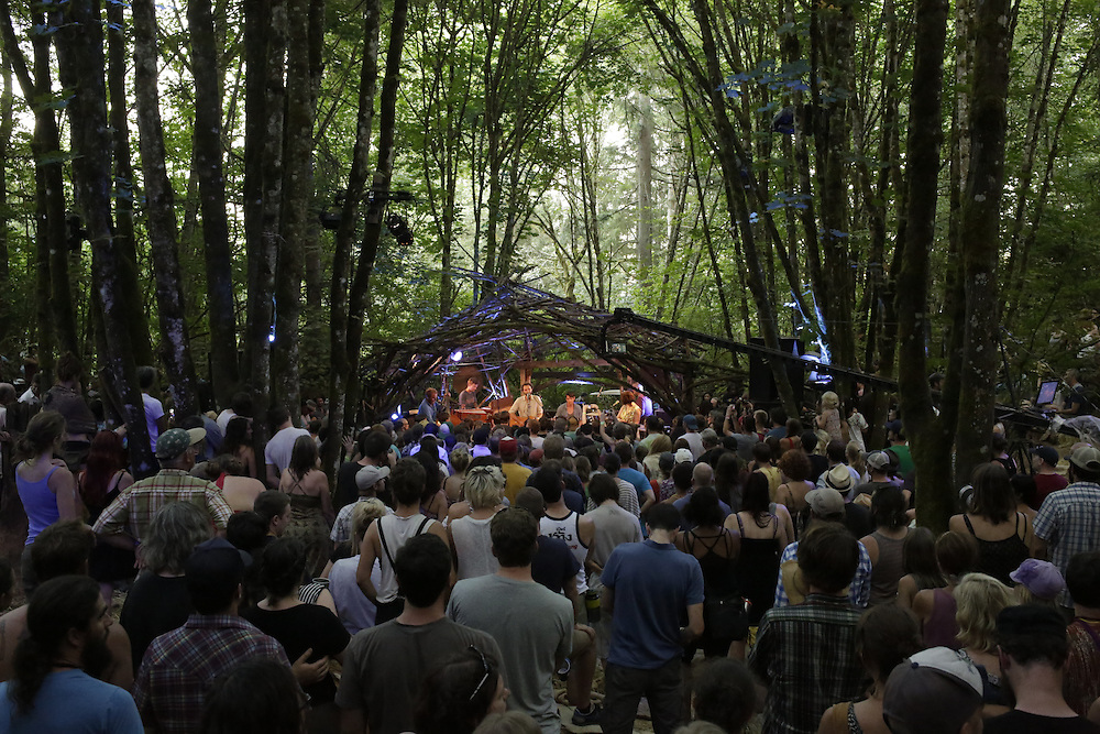 Blind Pilot performs on the Woods Stage at Pickathon in Portland, Ore. on Sunday, August 3, 2014. (Photo by Jason Redmond)