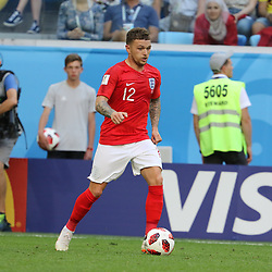 July 14, 2018 - St. Petersburg, Russia - July 14, 2018, St. Petersburg, FIFA World Cup 2018, Football match for the third place in the World Cup. Football match of Belgium - England at the stadium of St. Petersburg. Player of the national team Kieran Trippierre. (Credit Image: © Russian Look via ZUMA Wire)