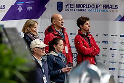 WERNDL Micaela, HILBERATH Jonny (Co Bundestrainer Dressur GER), THEODORESCU Monica (Bundestrainer GER)<br /> Göteborg - Gothenburg Horse Show 2019 <br /> FEI Dressage World Cup™ Final I<br /> Int. dressage competition - Grand Prix de Dressage<br /> Longines FEI Jumping World Cup™ Final and FEI Dressage World Cup™ Final<br /> 05. April 2019<br /> © www.sportfotos-lafrentz.de/Stefan Lafrentz