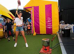 December 28, 2018 - Brisbane, AUSTRALIA - Ajla Tomljanovic of Australia visits Brisbanes East Street Markets ahead of the 2019 Brisbane International WTA Premier tennis tournament (Credit Image: © AFP7 via ZUMA Wire)