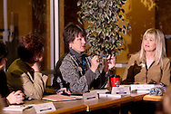 (from left) Ginny Riechman of Mary Kay; Cheryl Faulkner; Debra Ghysels of Debra's Designs and Deb Proffitt of Send Out Cards during the Women in Business Networking 'Hot Topics' Koffee Talk at the Dorothy Lane Market in Springboro, Friday, March 4, 2011.